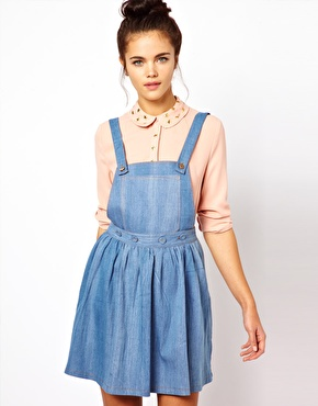 dahlia at asos denim dress