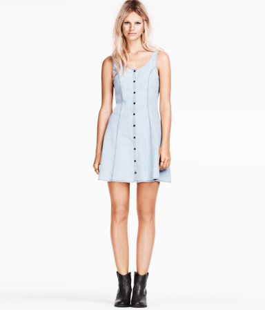 denim dress h and m